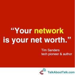 Tim Sanders networking quote