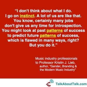 music industry experts to Kristin Lieb quote