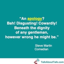 apology quote Steve Martin