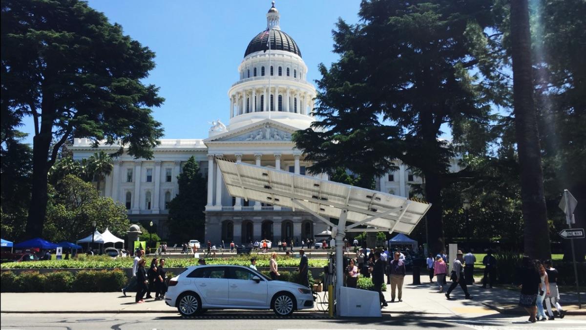 Beam's EV ARC™ outside the California State Capital