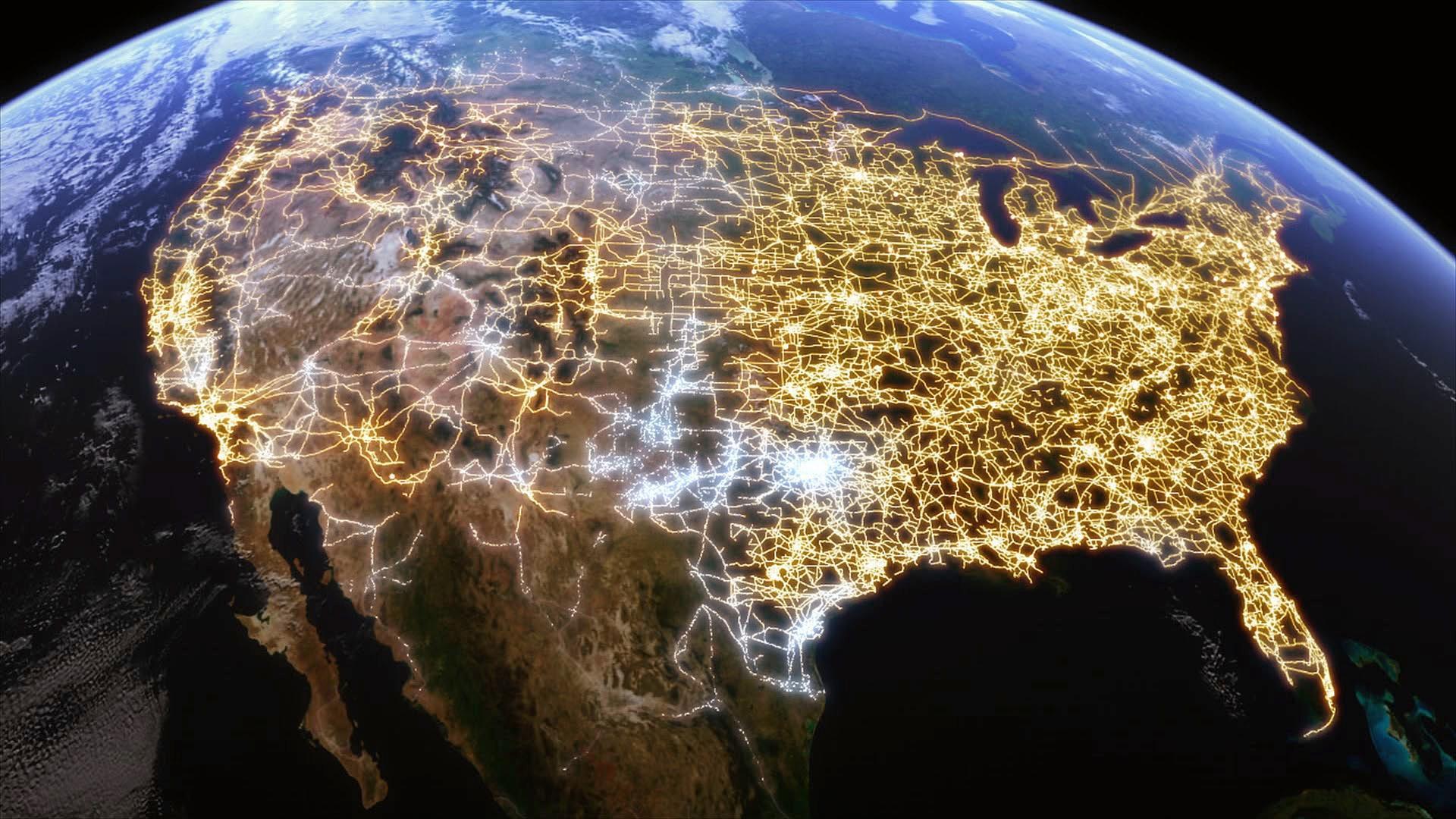 U.S Grid at Night