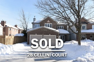 Ottawa Real Estate - Our listings 28 Cellini Sold