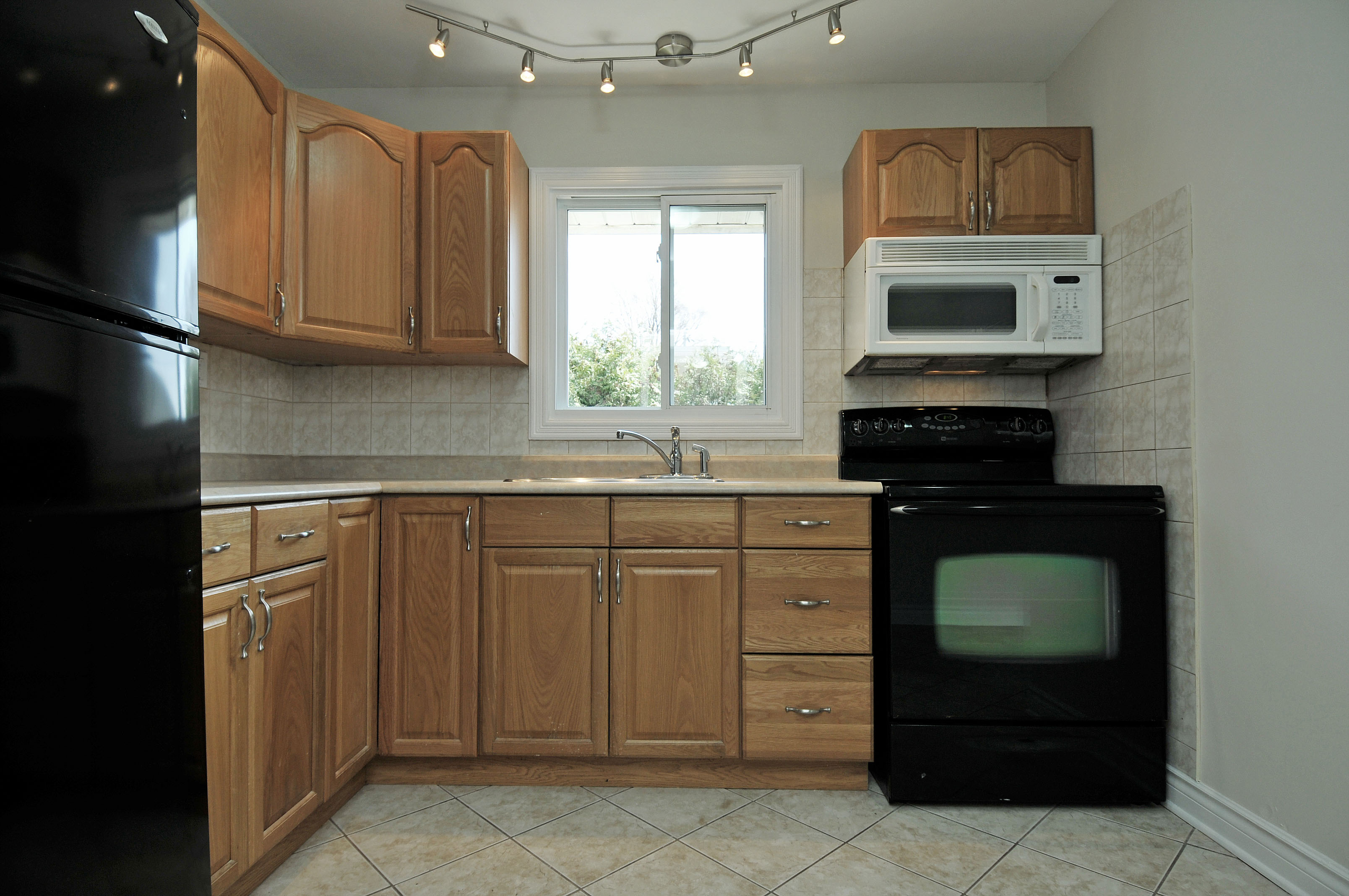 Billings bridge kitchen wood cabinets tile floor