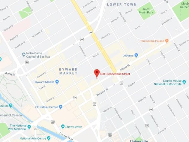 400 Cumberland Street map photo