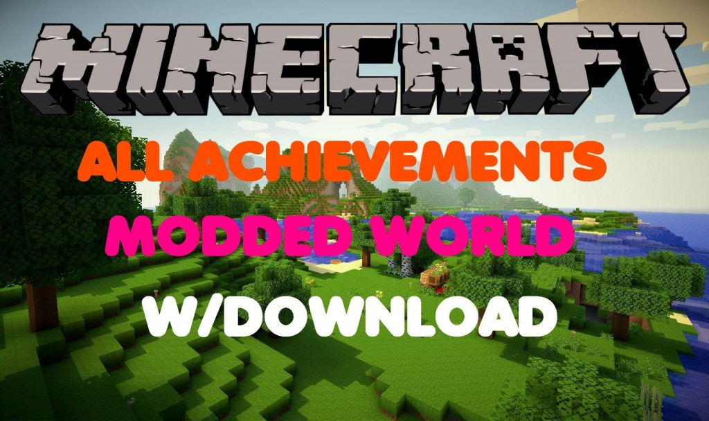 Minecraft Xbox 360One All Achievements Modded Map