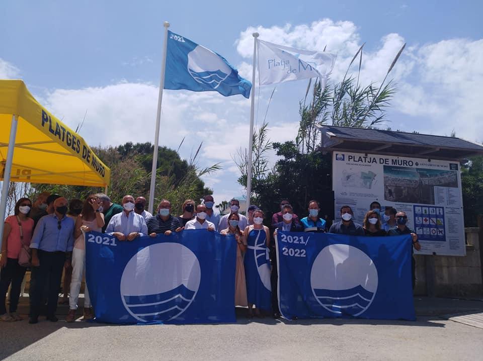 The various flags for 2021 were presented in Playa de Muro last weekend