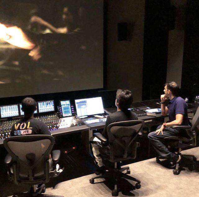 Sabtu Produktif, Manoj Punjabi Sedang Persiapan Trailer Film Dengan Sound Mixing Keren Abis