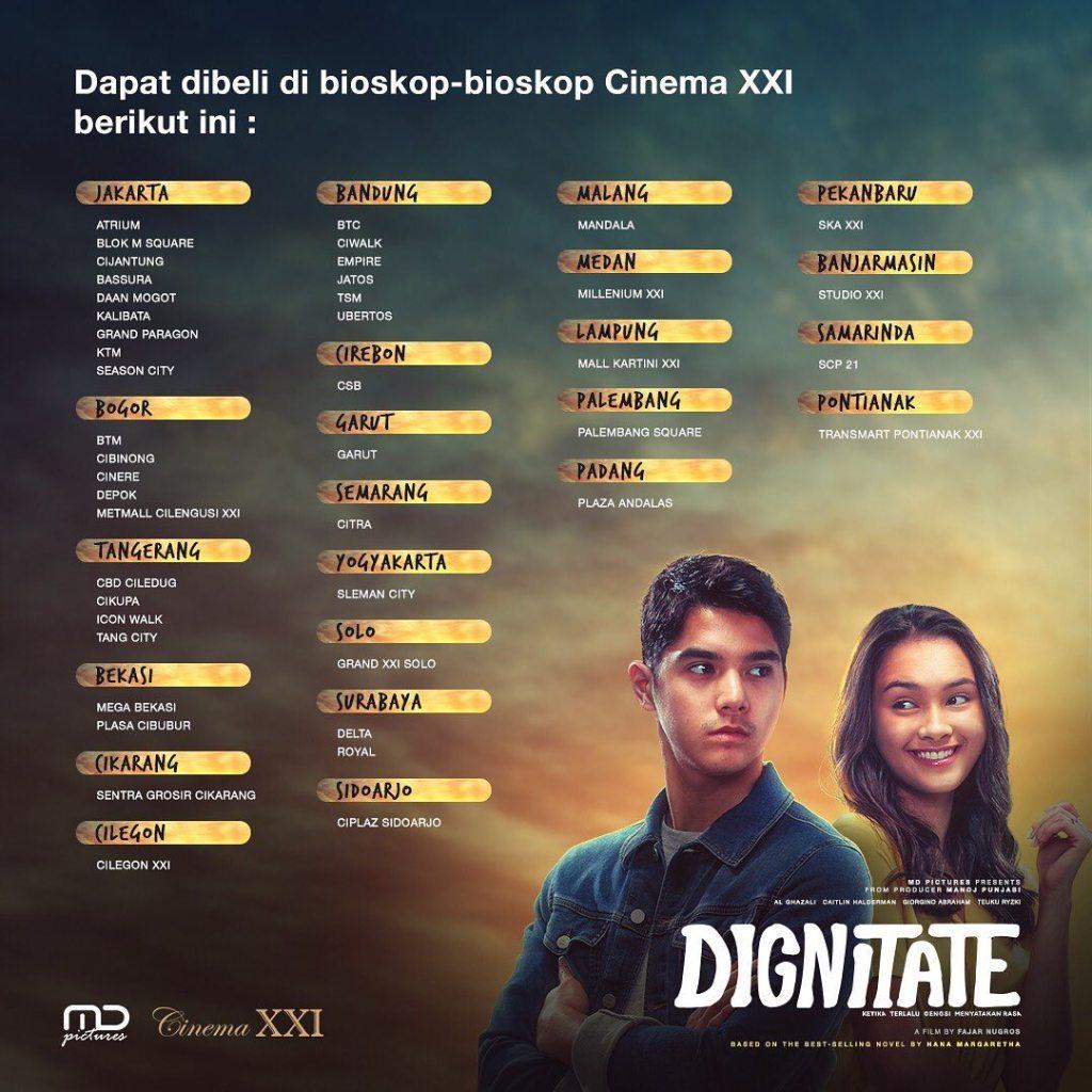 Tiket Nonton Film Dignitate Bisa Dibeli Sekarang DI XXI dan CGV
