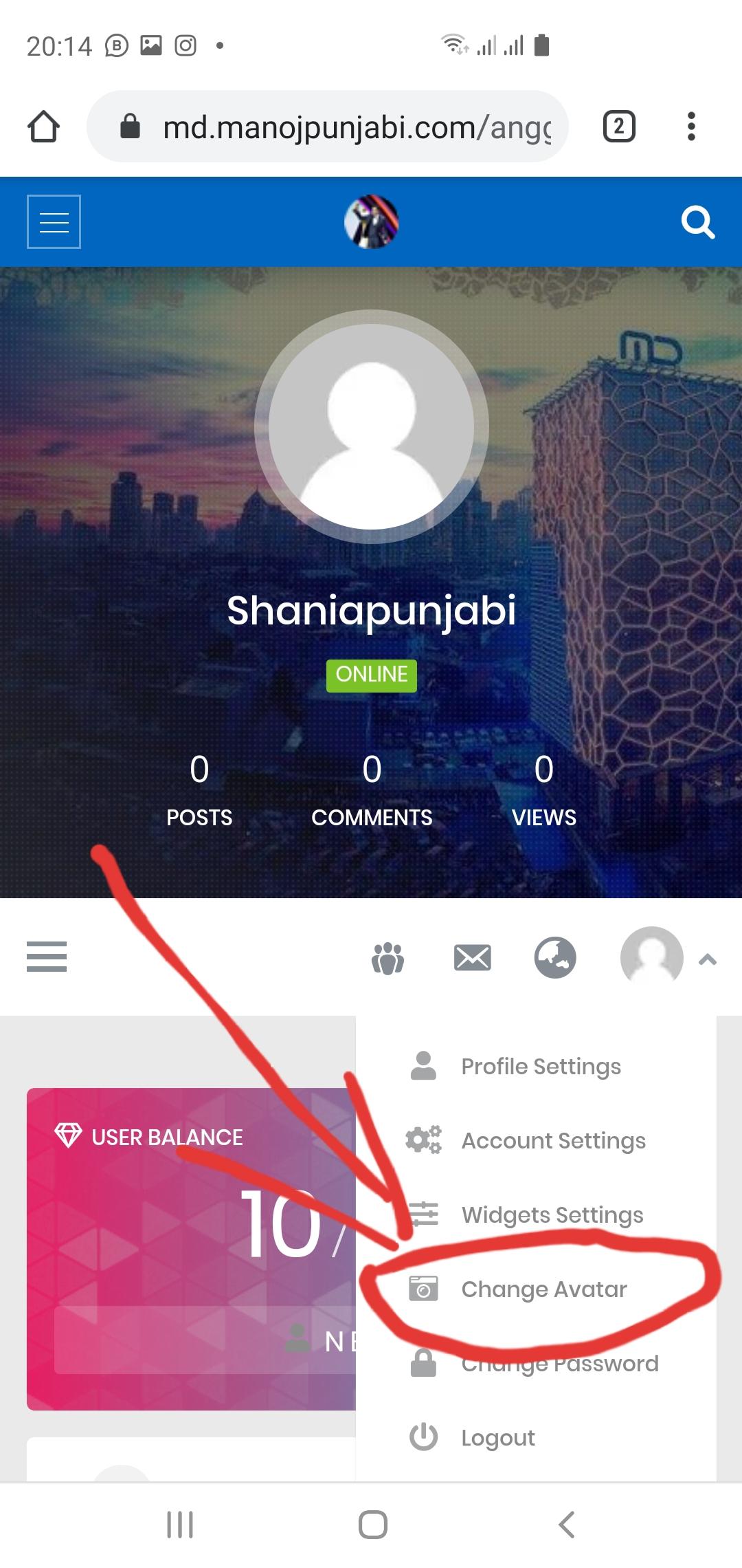 10. Ganti gambar profil kalian klik liat gambar