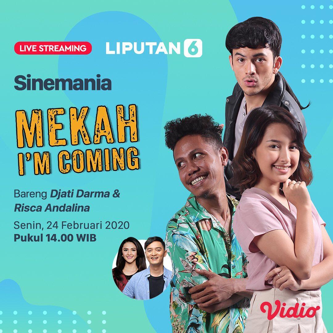 Pemain Film Mekah Im Coming, Eddy, Fajrul dan Tuti akan LIVE Streaming di Sinemania @liputan6