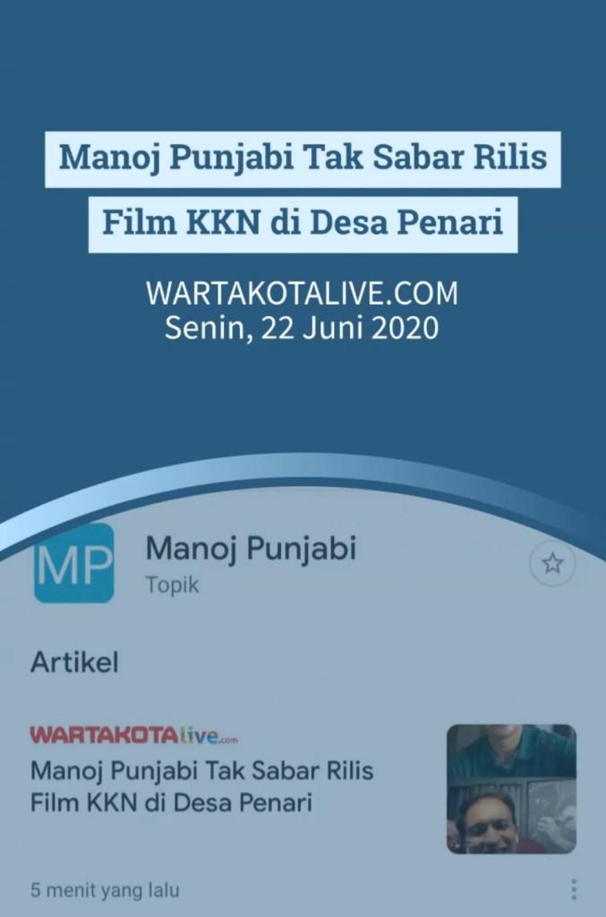 Ditanya Film KKN di Desa Penari, Manoj Punjabi Tak Sabar Segera Merilisnya