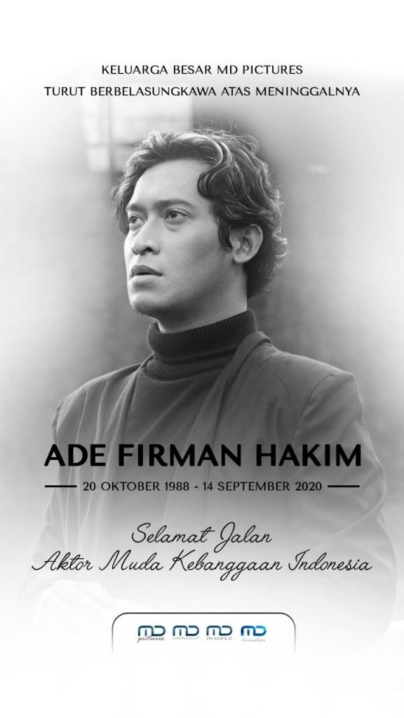 Selamat jalan, Ade Firman Hakim, terima kasih sudah mewarnai dunia perfilman Indonesia. You will be missed!