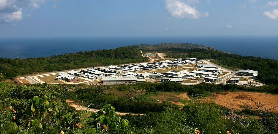 Le centre de détention de Christmas Island, en 2008.