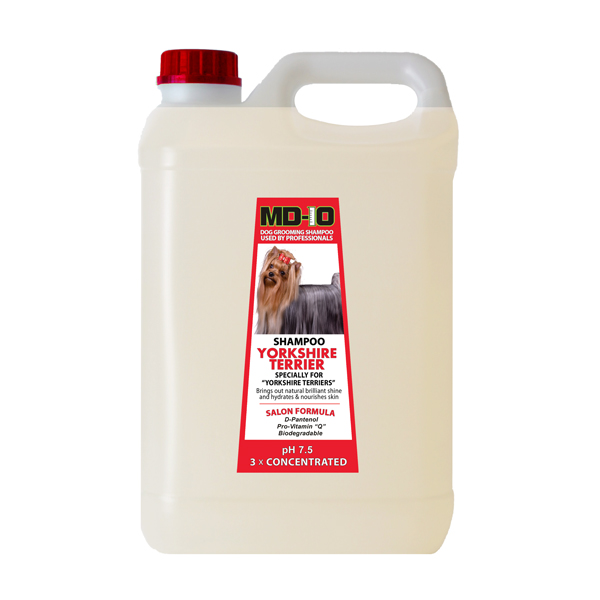 MD10 Yorkshire Terrier Shampoo 5 Litre 20 Litre Diluted