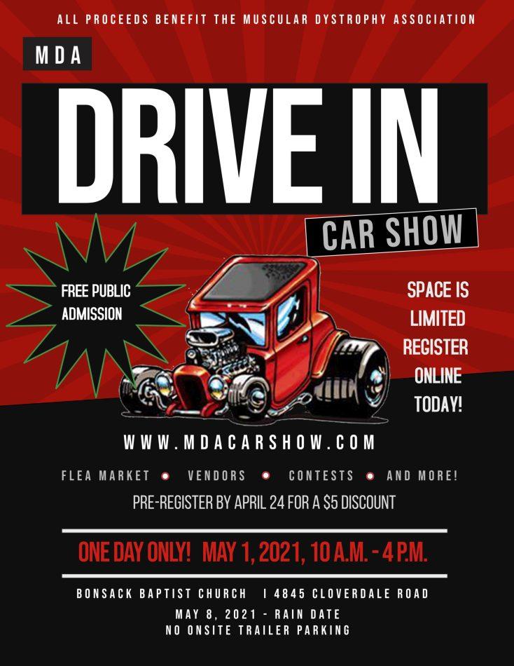MDA Drive In Car Show