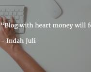 Blog with heart money will follow