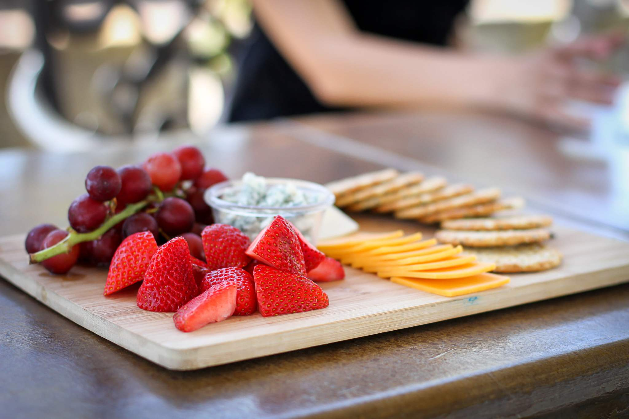 Pair a delicious platter with a glass of wine