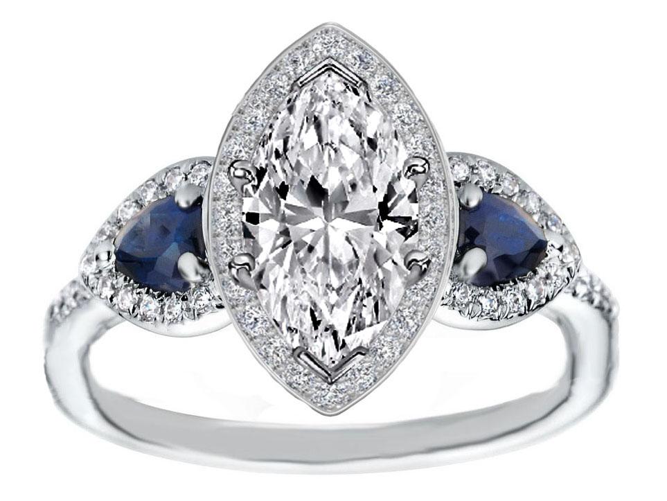 Anniversary Rings Anniversary Rings With Marquise Diamonds