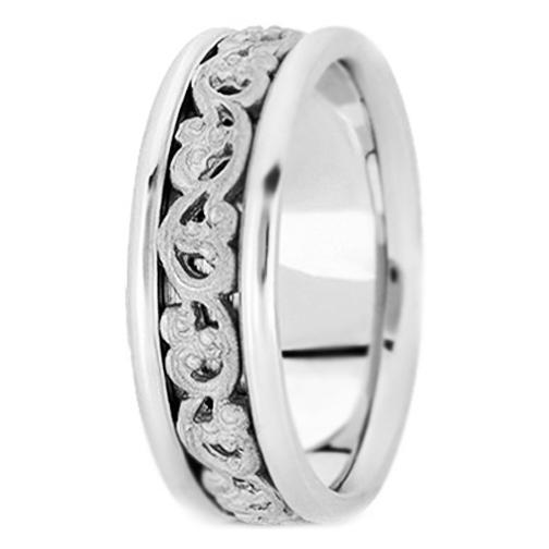 Engraved Mens Wedding Bands Top Kreuz Hand Engraved