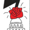 illustration of lightning bolt striking a rose on top of U.S. Capitol Building