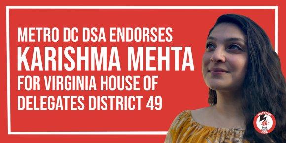 MDC DSA endorse Karishma Mehta