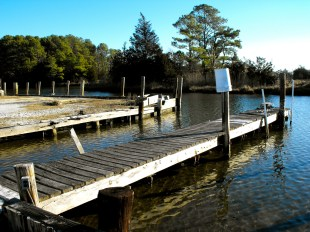 This small commerical dock near Public Landing is used by commercial watermen.
