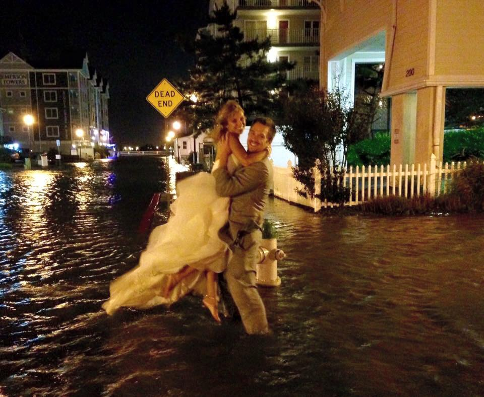 10 05 2015 Local Couple S Ocean City Wedding Goes Off Despite Storm Challenges News Ocean