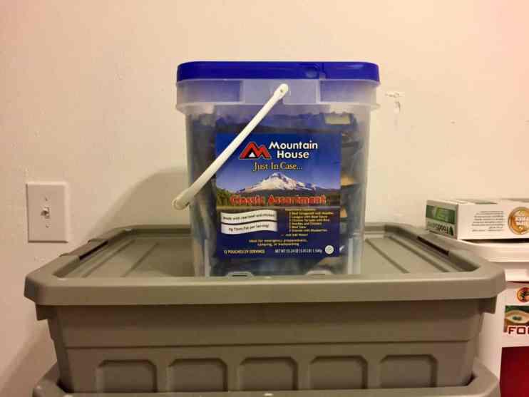 Mountain House Bucket From Amazon.com