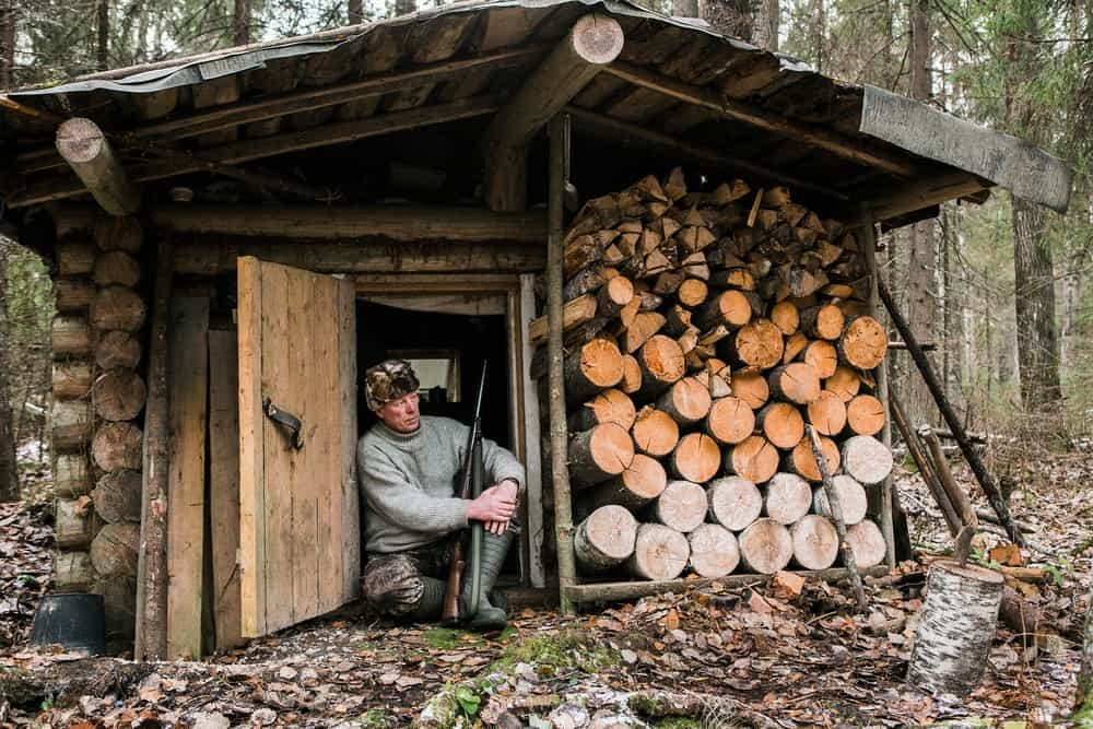 long-term bushcraft shelter