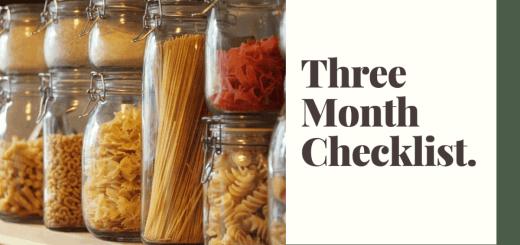 prepper food storage checklist
