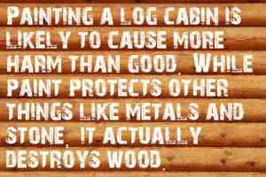 Can You Paint a Log Cabin?