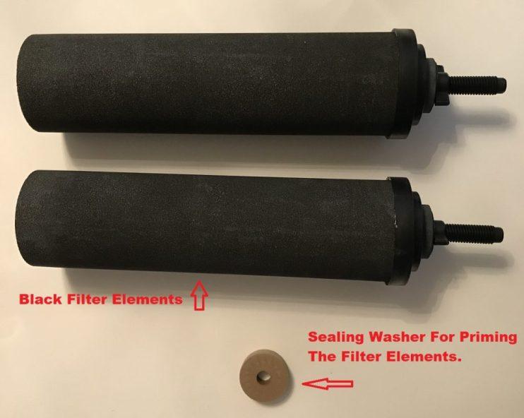 Black Berkey Filter Elements