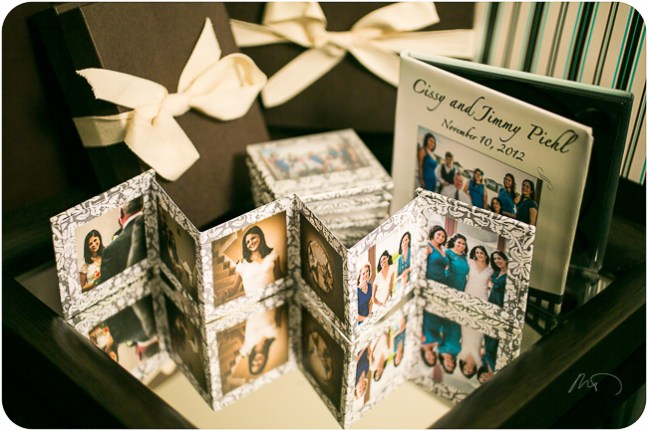 Square Accordion Mini book with Frosted Cover with custom design