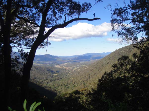 Araluen Valley now - looking down into the valley from Clarke's Lookout