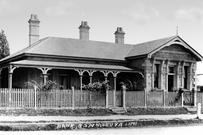The Bank of NSWin Moruya, 1890