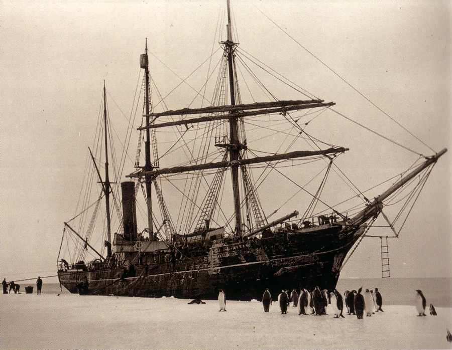 Mawson's ship. The Aurora