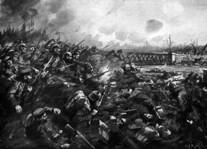 The German Attack at Nimy Bridge on 23rd August 1914