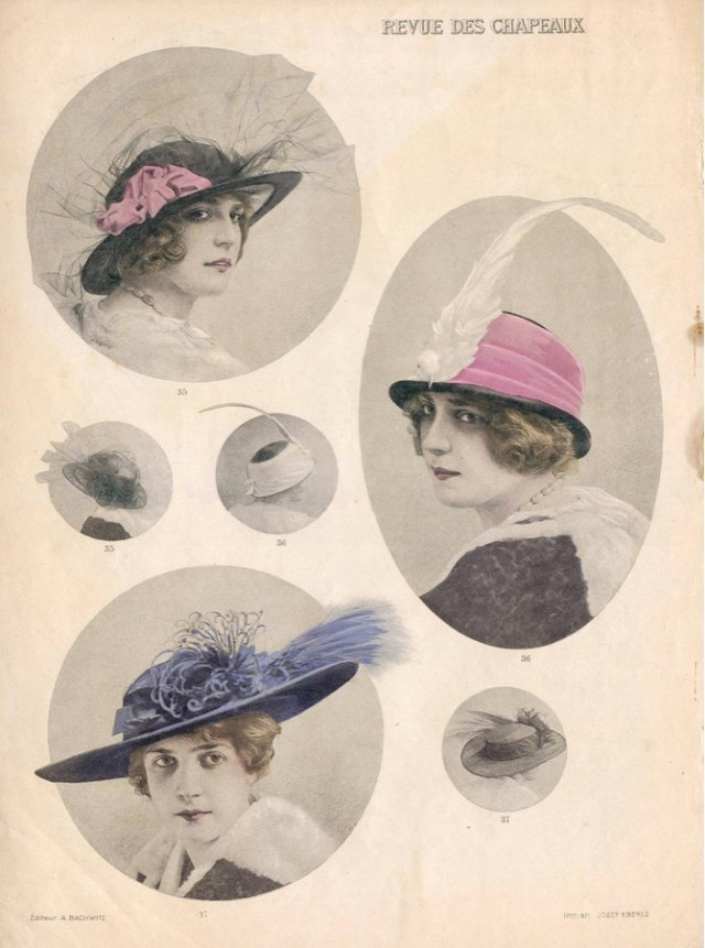 Millinery of the tie. I wonder if    bought these back to Moruya?