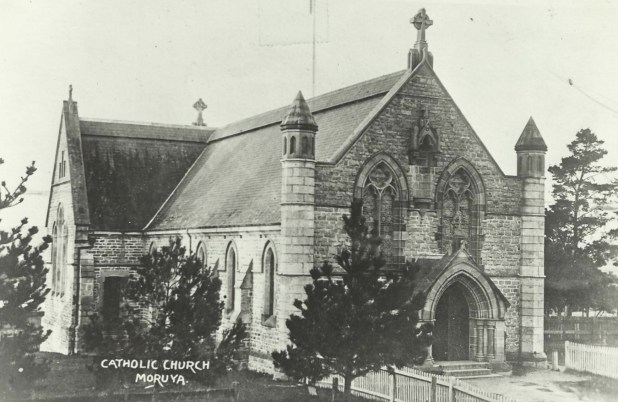 Sacred, Heart Catholic Church, Moruya in 1908. The church would have looked like this at the time of the wedding.