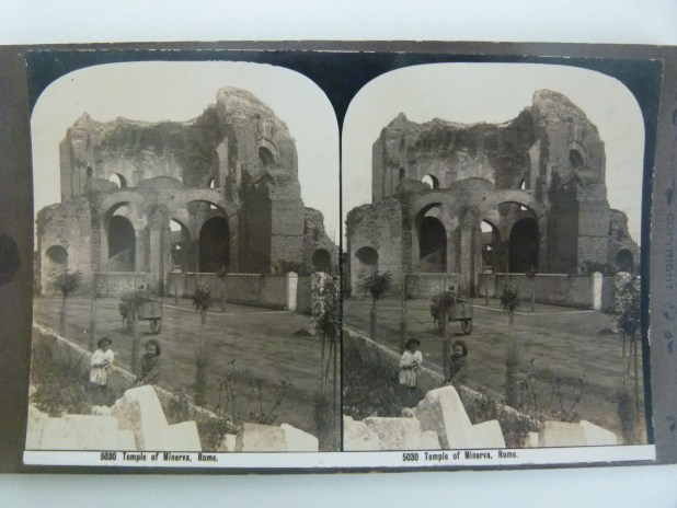 Stereogram of Roman ruins - MDHS Collection