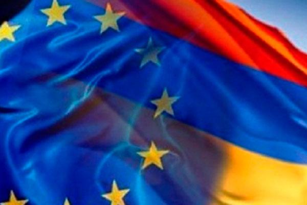 Armenian and EU Flags