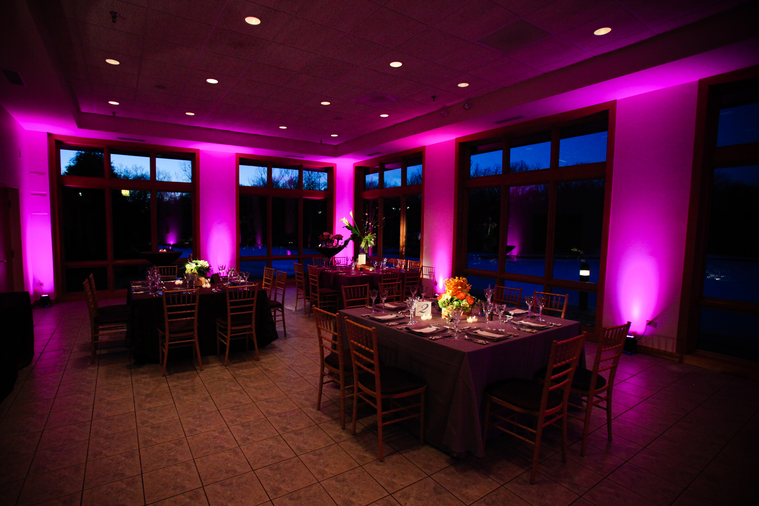 Wedding lighting and special event lighting for chicago