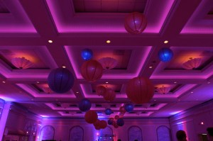 Red and Purple Lanterns at Venuti's