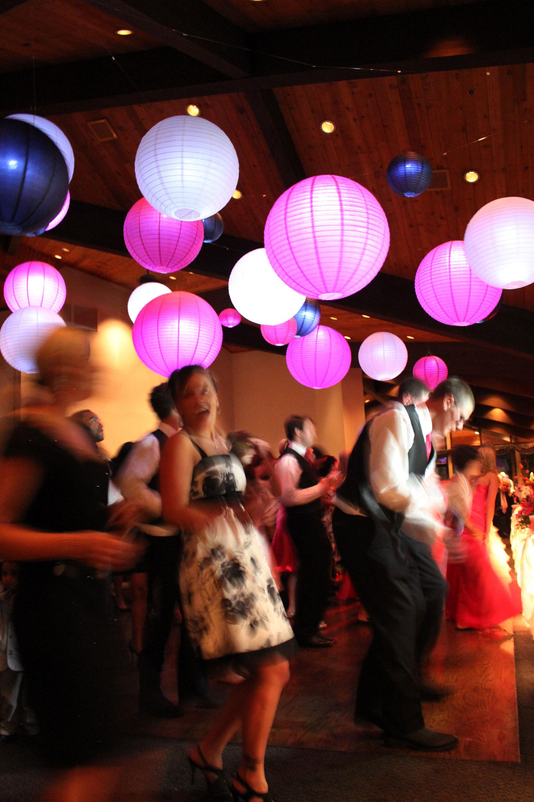 Hanging Lanterns for Chicago Weddings - MDM Entertainment