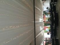 Ceiling Drape and Twinkle Lights at Galleria Marchetti Pergola