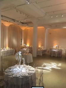 Chez Wedding Drape and Lighting