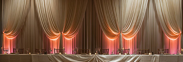 Chicago Wedding Drape