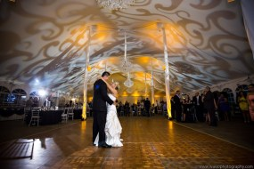 Pattern on tent ceiling for a wedding