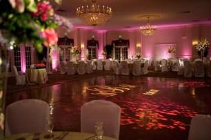 Pink wedding lighting
