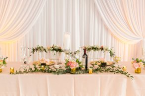 Galleria Marchetti Wedding Head Table Backdrop Drape